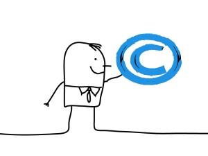 Copyright Stick Figure Cartoon