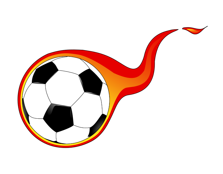 Soccer goal clipart illustration