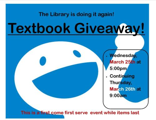 textbook giveaway